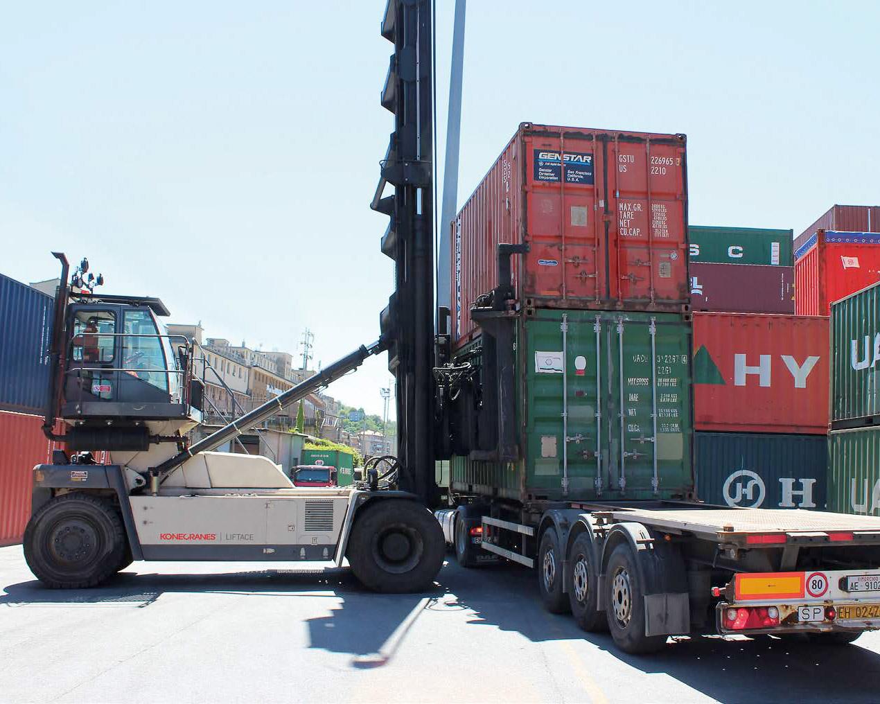 konecranes liftace empty containers handler