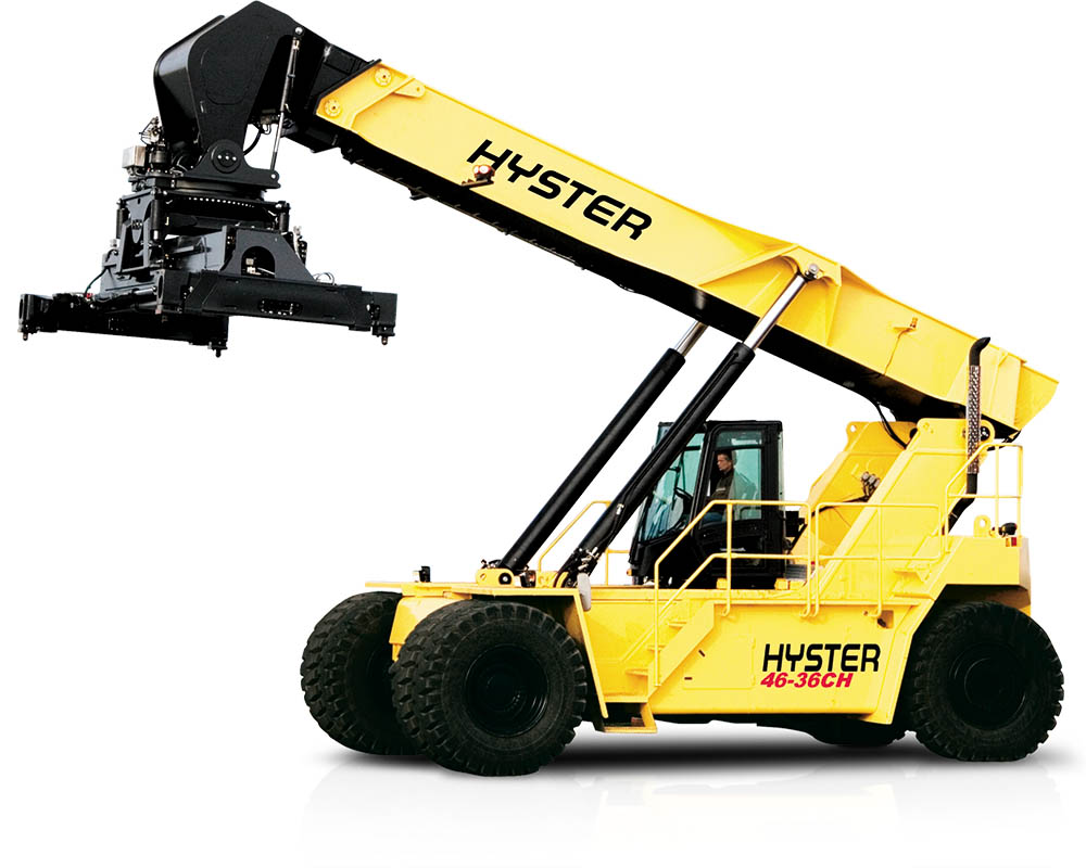 Reachstacker hyster, manutention terrestre