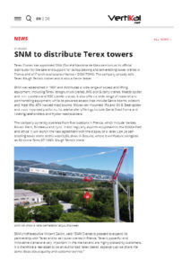 SNM to distribute Terex towers