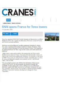 SNM opens France for Terex towers