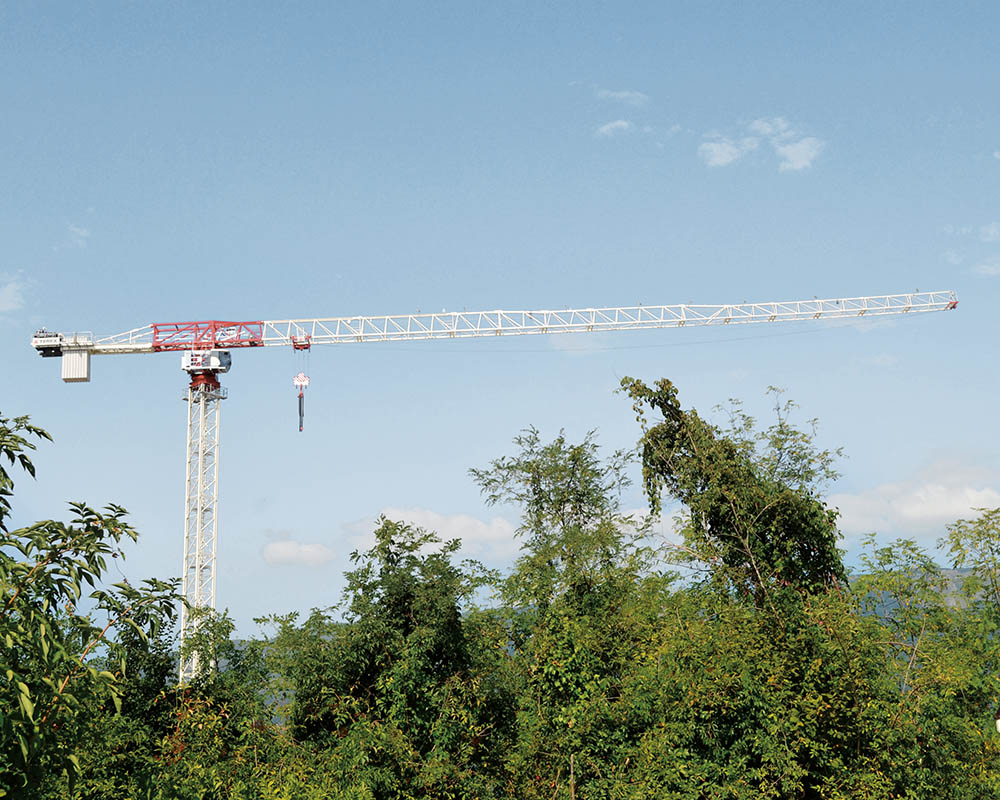 Grue à tour flat top terex